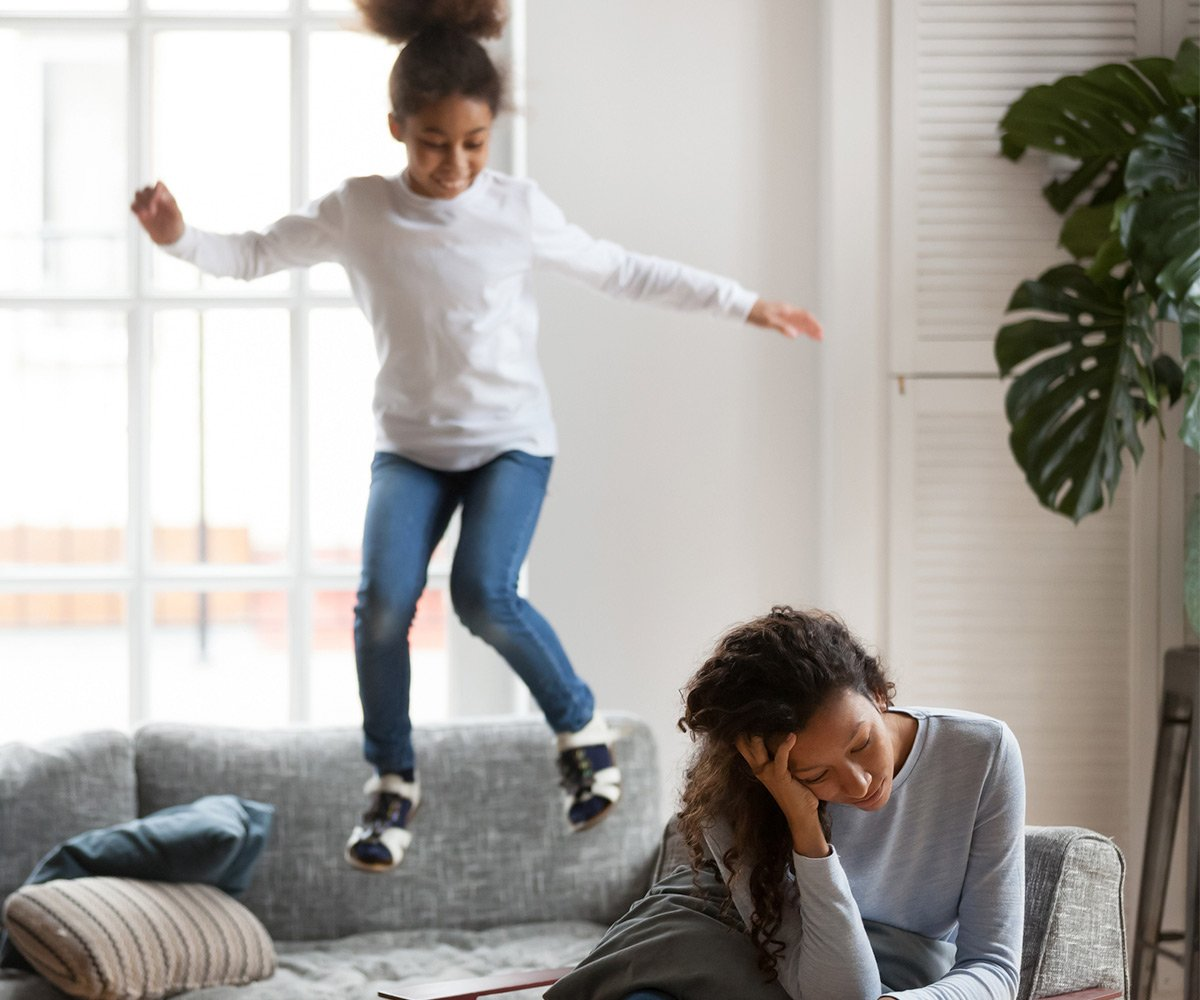Parent struggling with their child who has ADHD and Asthma