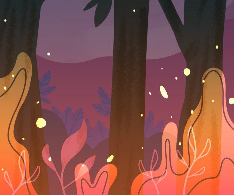 Comic of wildfire season.