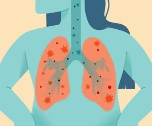 graphic of the respiratory system