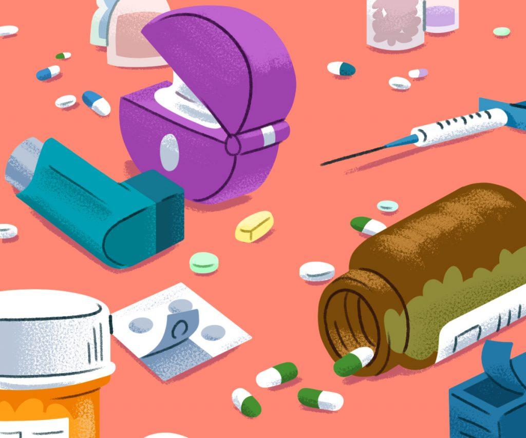 assortment of medication